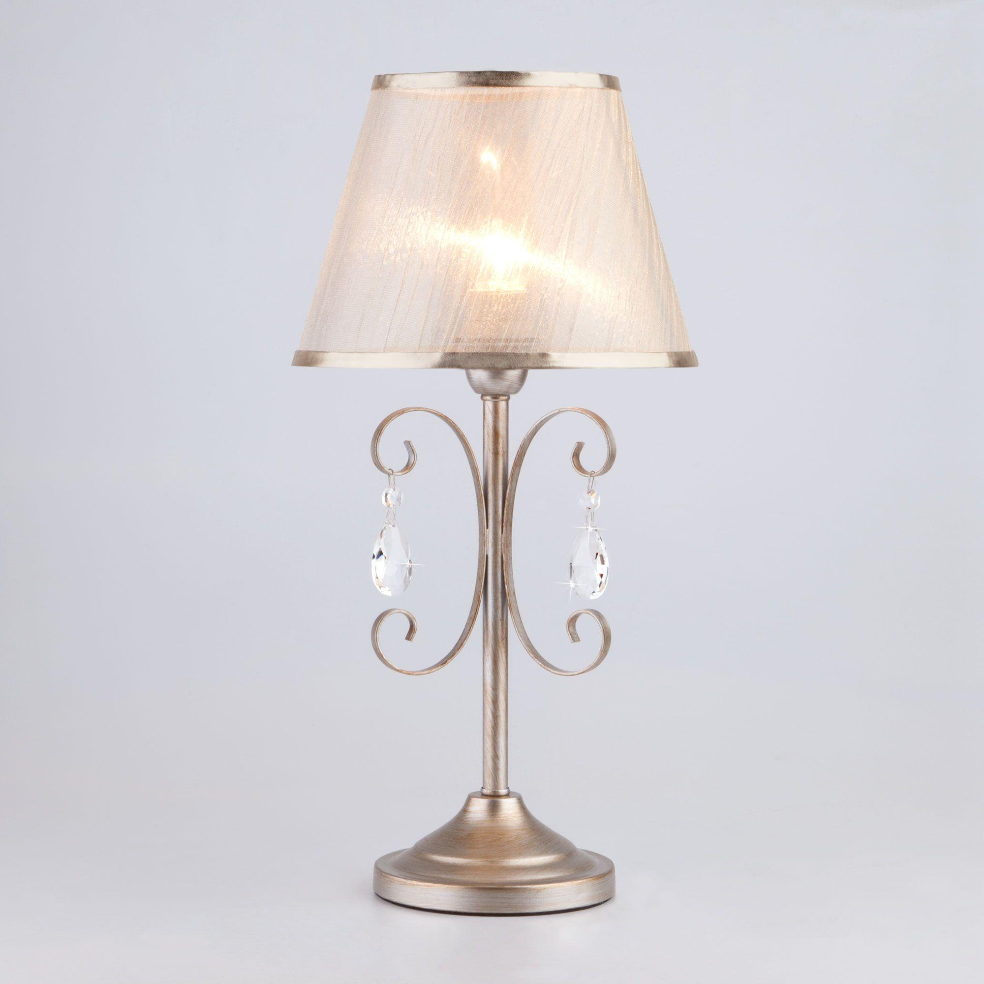 Настольная лампа 01051/1 серебро