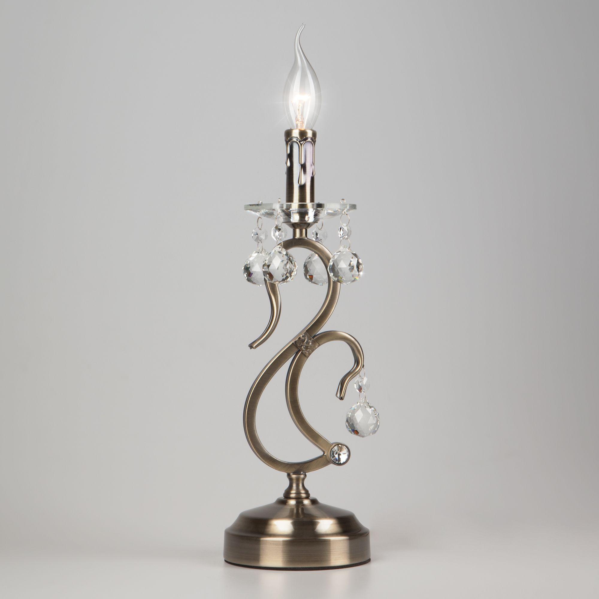 Настольная лампа 12505/1T античная бронза