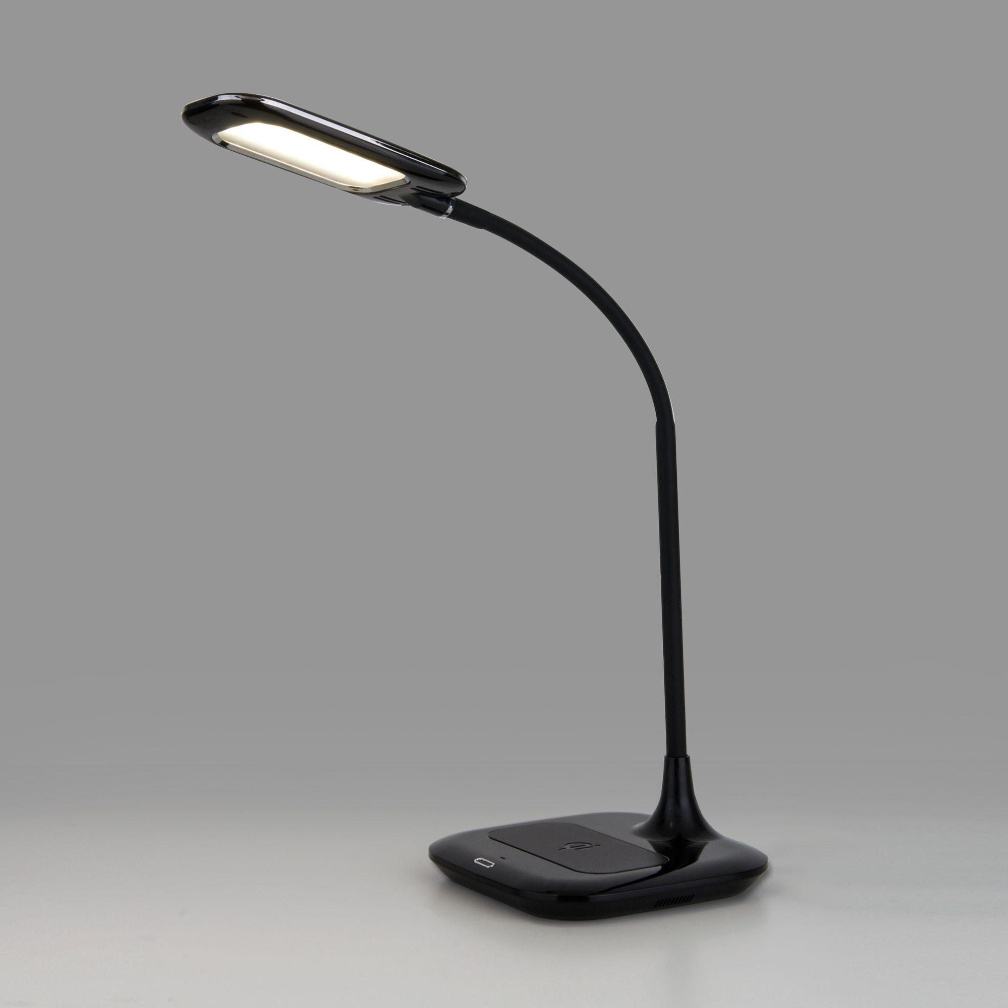 Светодиодная настольная лампа с беспроводной зарядкой 80419/1 черный
